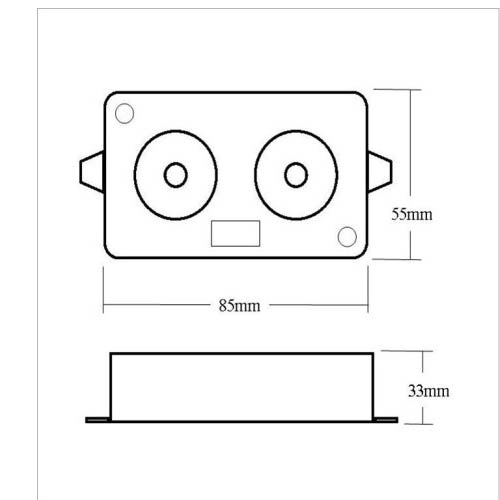 Kinetic Twin Piezo Soundbomb Sirene Alarme Sondeur Sound Bomb